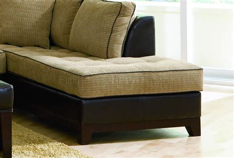 beige chenille fabric contemporary sectional sofa wvinyl base
