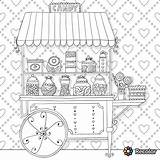 Coloring Pages Adults Candy Cart Adult Printable Colouring Coloriages Sheets Uploaded User Candyland sketch template