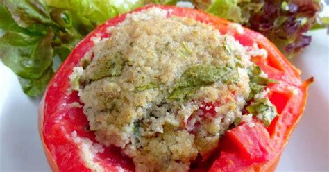 cuisiner chair à saucisse gourmande ou passionnée tomates farcies au fonio