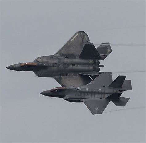 F-22 Raptor And F-35 Lightning Ii