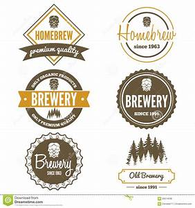 set of vintage logo badge emblem or logotype stock With beer logo creator