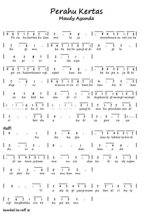 not angka lagu prahu layar not angka pianika lagu perahu kertas maudy ayunda