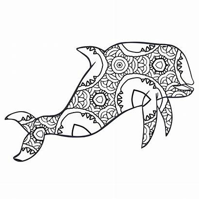 Coloring Animal Pages Animals Printable Geometric Whale