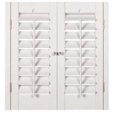 window shutters interior home depot homebasics plantation faux wood white interior shutter price varies by size qspa3536 the