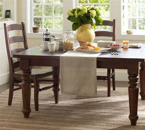 sumner square fixed dining table pottery barn