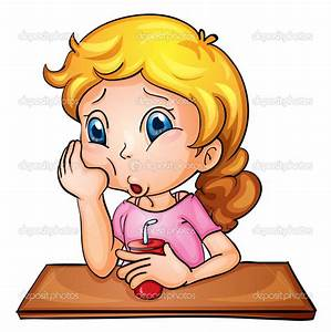 School Girl Tired Clipart - Clipart Suggest