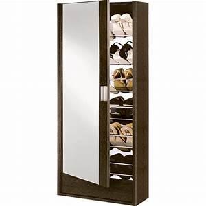 meuble a chaussures aude avec miroir et 1 porte achat With meuble a chaussure avec miroir