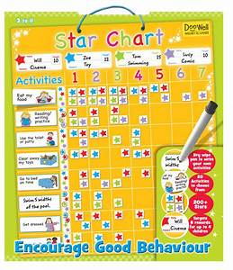 Large Magnetic Reward Star Chart Activity Coloured
