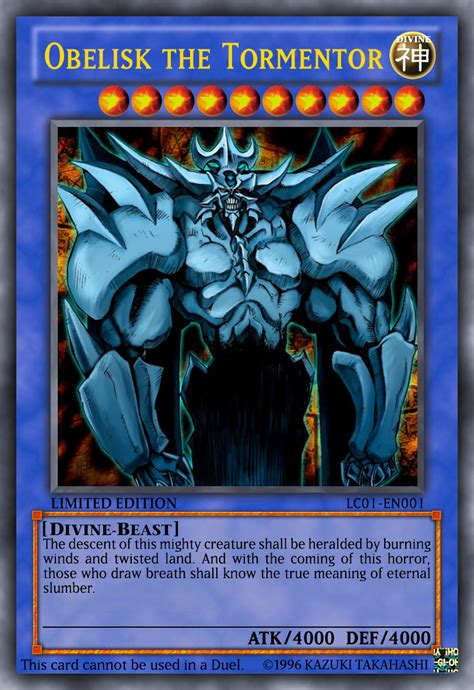 Obelisk The Tormentor Deck Build by Obelisk The Tormentor By Yamiyugimuto On Deviantart