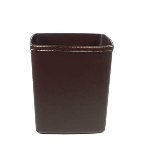 corbeille de bureau corbeille à papier de bureau en similicuir marron