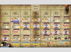 January 2018 Tsum Calendar International TsumTsum