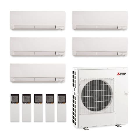 Mitsubishi Ductless Split System Air Conditioner by Mitsubishi Five Zone Mxz5c42na Mszgl06na X Two Mszgl12naa