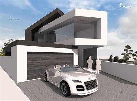Moderne Architektur Satteldach by Flow Studio Gmbh Flowarchitektur