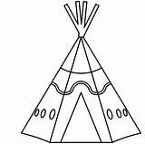 Teepee Tipi Drawing Vector Clipartmag Clipart Eps sketch template