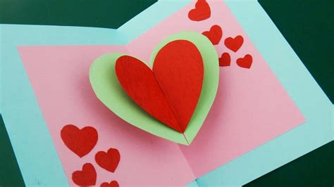 Our online software has many styles from which to you can create free personalized greeting cards for someone special. Pop up card (floating heart) - how to make a mini greeting card with a pop out heart - EzyCraft ...