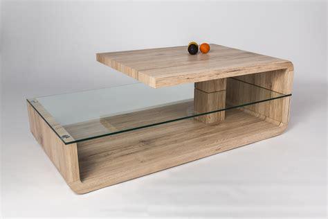 table basse verre bois table basse en bois et verre table salon chene