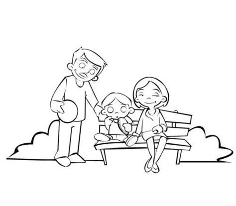 Kostenlose Malvorlage Menschen Und Ihr Zuhause Famile Auf