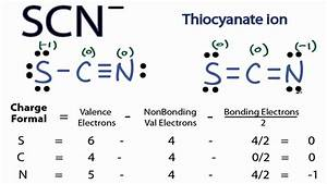 Scn- Lewis Structure - How To Draw The Lewis Structure For Scn-  Thiocyanate Ion