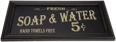 "But what about decorating the bathroom wall with artwork ? Amazon: Vintage ""Soap & Water"" Bathroom Wall Art Only $10.77 (Reg. $22.32) - Drugstore Divas"