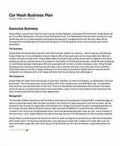 13 business plans free sample example format free premium With car wash business proposal letter