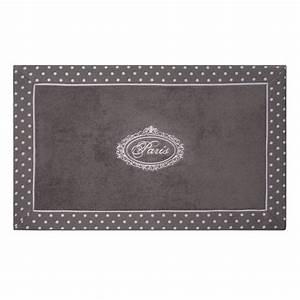 Maison Du Monde Tapis Enfant : tapis de bain en coton gris 50 x 80 cm paris maisons du ~ Teatrodelosmanantiales.com Idées de Décoration