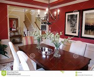 salle a manger rouge photo stock image 5243600 With salle a manger rouge