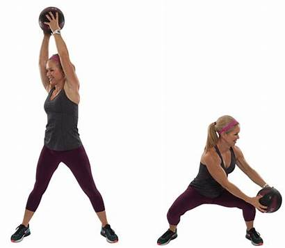 Medicine Ball Core Low Exercises Workout Chop