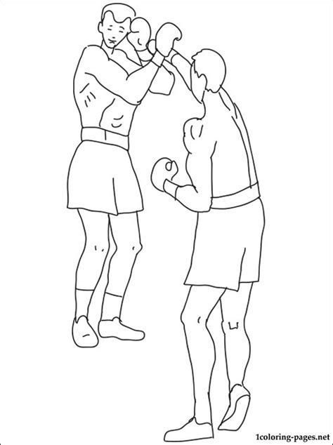 boxing coloring page coloring pages