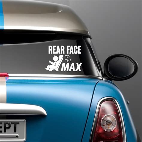 siege auto rear facing rear to the max car sticker support longer rear