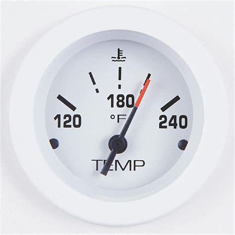 teleflex 174 arctic 2 quot gauges water temp electric 144345 instruments gauges at
