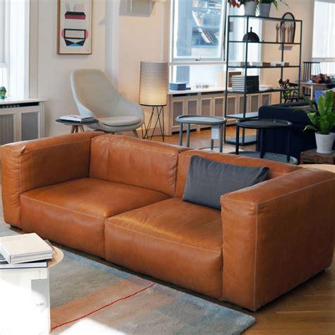canapé italien sofa mags 2 5 sitzer ledersofa hay ambientedirect com