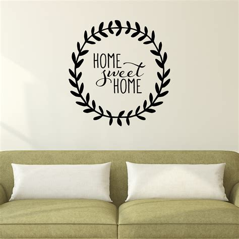 home sweet home leaves wall quotes decal wallquotescom