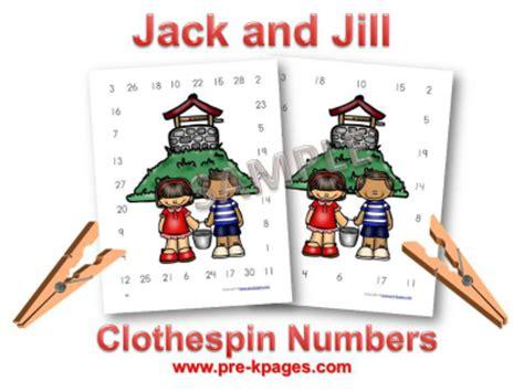 pre k nursery rhymes and pre kpages 183 | jack jill numbers game