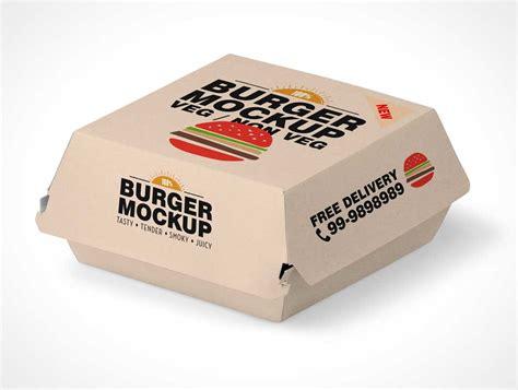 4 free business cards mockup psd. Fast Food Hamburger Take-out Packaging PSD Mockup - PSD ...