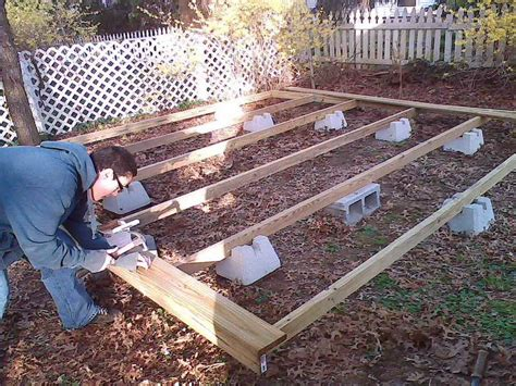 building a deck a patio how to repair how to build a floating deck step by
