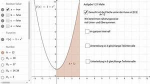 Fläche Unter Parabel Berechnen : unter und obersumme teil 1 geogebra ~ Themetempest.com Abrechnung