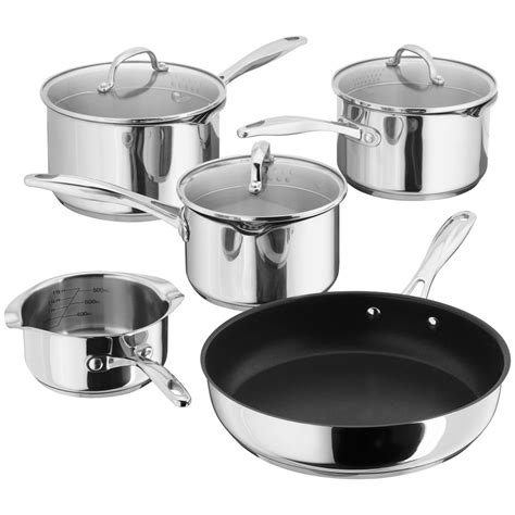 pan stellar lids steel draining piece stainless saucepan induction saucepans sets ready cookware pricerunner ireland
