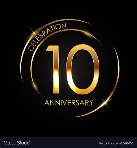 template  years anniversary royalty  vector image