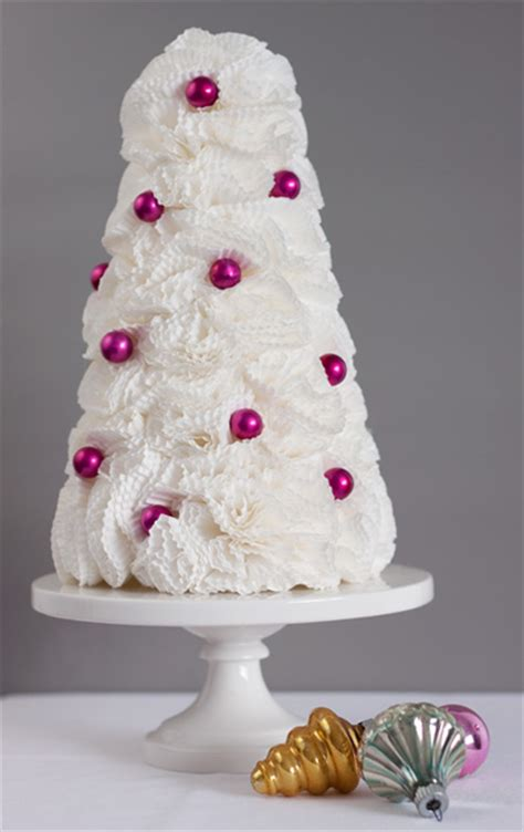 how to make cupcake liner trees