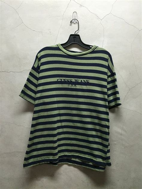 vintage guess jeans guess jeans shirt striped
