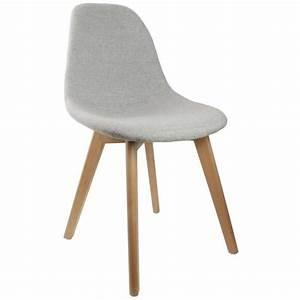 Chaise En Tissu Gris : chaise scandinave en tissu gris et pieds en bois achat vente fauteuil jardin chaise ~ Teatrodelosmanantiales.com Idées de Décoration