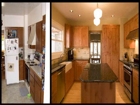 before and after small kitchen makeovers before after small kitchen remodels modern kitchens 9090