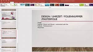 Word Datum Automatisch Berechnen : 10 16 microsoft powerpoint 2016 design uhrzeit foliennummer masterfolie digikomp ~ Themetempest.com Abrechnung