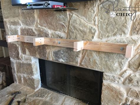 how to build and hang a mantel on a fireplace