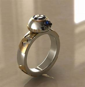 Star wars inspired wedding rings bb8 creative ads and for Star wars wedding rings