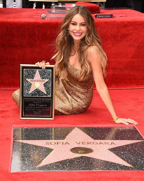 sofia vergara queen latifah sofia vergara gets star on the hollywood walk of fame