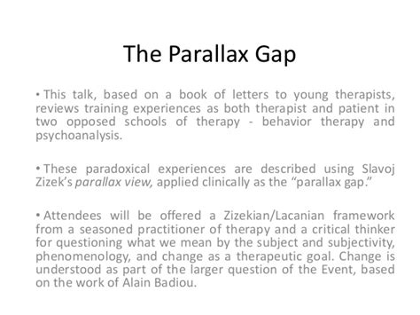 letters to a young therapist letters to a therapist letters to a therapist by pip 23398 | the parallax gap a reading from letters to a young therapist zizek conference book talk 28042012 4 638