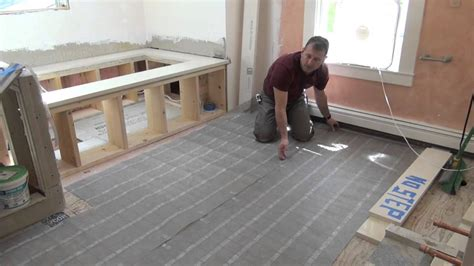 Heated Bathroom Floor Systems Remodeling A Bathroom Part 10 Electric Radiant Floor Heat