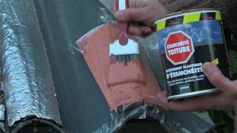 reparation  une tuile cassee armature tissu peinture
