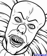 Pennywise Clown Coloring Pages Haunted King Stephen Adults Carnival Printable Colouring Scary Bing Books Clowns Evil sketch template